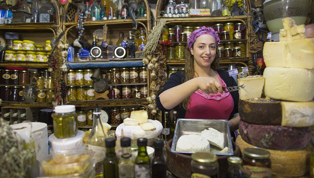 Магазин сыра в Тель-Авиве