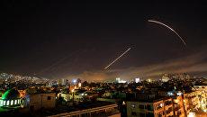 Удар коалиции в Дамаске, Сирия. Архивное фото