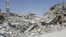 Исследовательский центр в Сирии, разрушенный в результате авиаударов коалиции. Архивное фото
