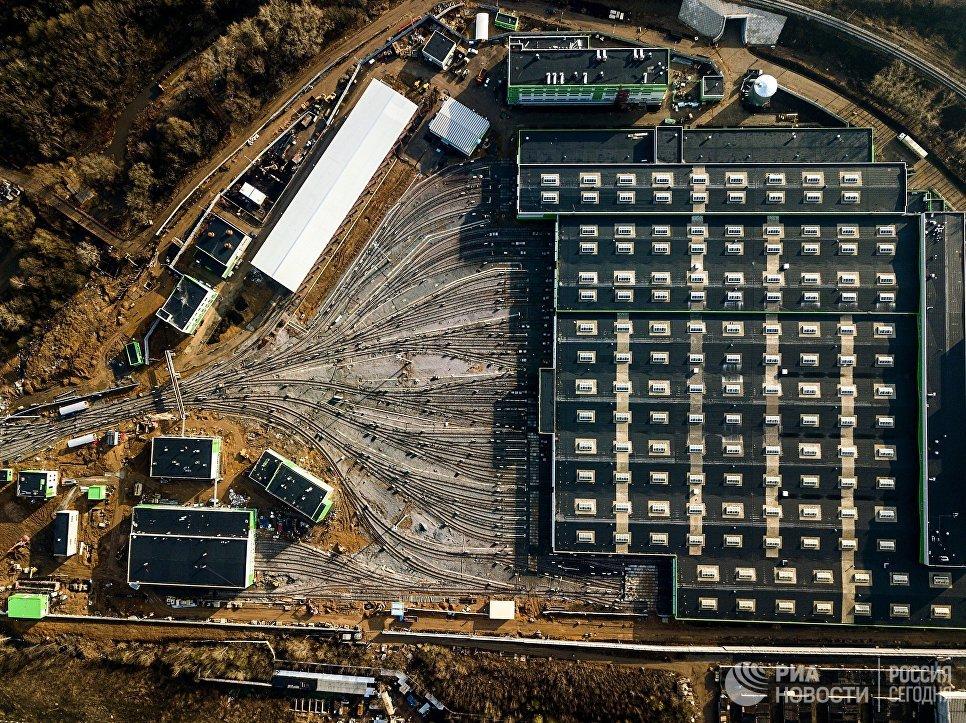 Локомотивное депо Лихоборы в Москве
