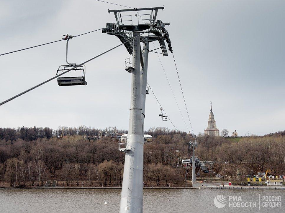 Канатная дорога через Москва-реку в Лужниках