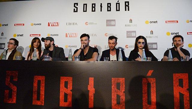 Пресс-конференция перед премьерой фильма Собибор в Варшаве. Архивное фото