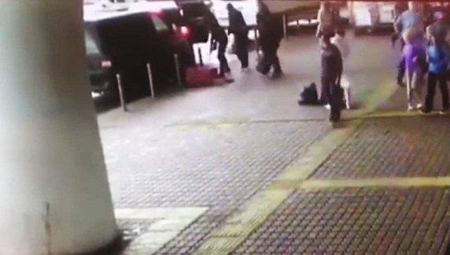 Кадр ограбления во Внуково