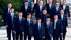 Лидер Северной Кореи Ким Чен Ын во время межкорейского саммита