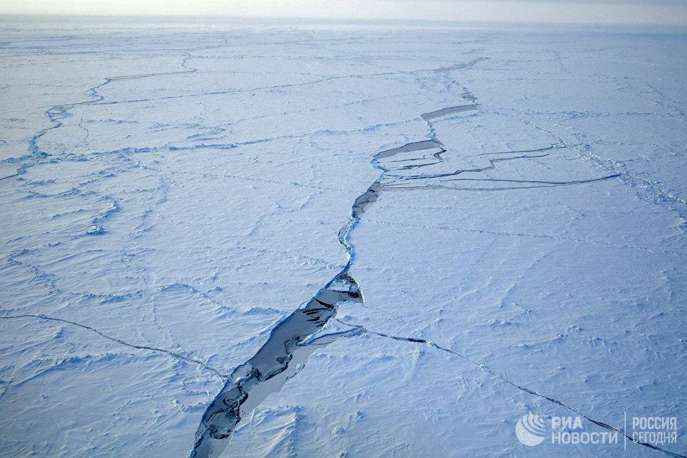На Северном полюсе.