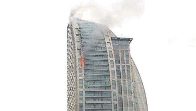 Встолице Азербайджана потушили вновь появившийся в помещении Trump Tower пожар