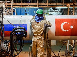 Газопровод Турецкий поток. Архивное фото