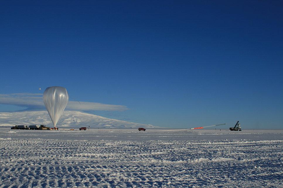 Запуск ANITA с помощью аэростата