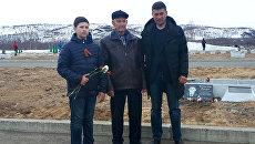 Нури Билялов с внуком и правнуком