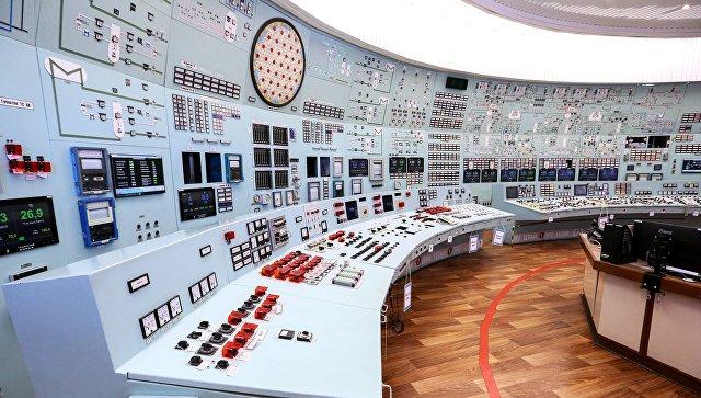 Пульт управления АЭС. Архивное фото