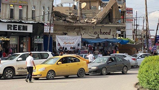 Вид на одну из улиц Мосула во время выборов в Ираке. Архивное фото