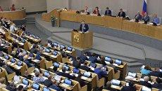 Пленарное заседание в Госдуме. Архивное фото