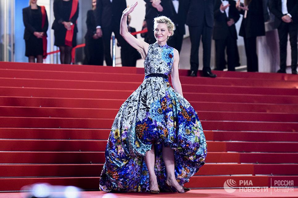 Актриса Кейт Бланшетт на красной дорожке премьеры фильма Холодная война (Cold War / Zimna Wojna) в рамках 71-го Каннского международного фестиваля
