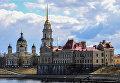 Речной порт и Спасо-Преображенский кафедральный собор в городе Рыбинске Ярославской области