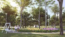 Проект благоустройства парка Вагоноремонт на севере Москвы