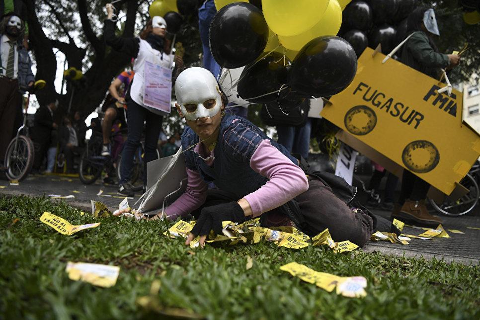 Акция протеста против роста тарифов на на коммунальные услуги в Буэнос-Айресе, Аргентина. 14 мая 2018 года