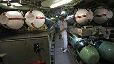 Ракеты Tomahawk на борту подлодки USS Hampton