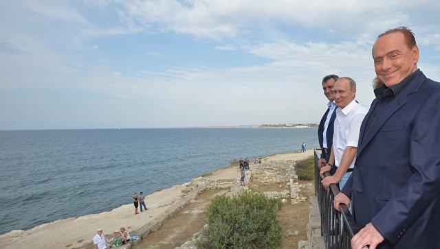 Берлускони назвал Крым самым красивым регионом РФ