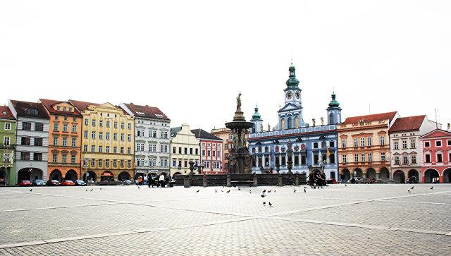 Площадь Пржемысла Оттокара II в Ческе-Будеевице, Чехия