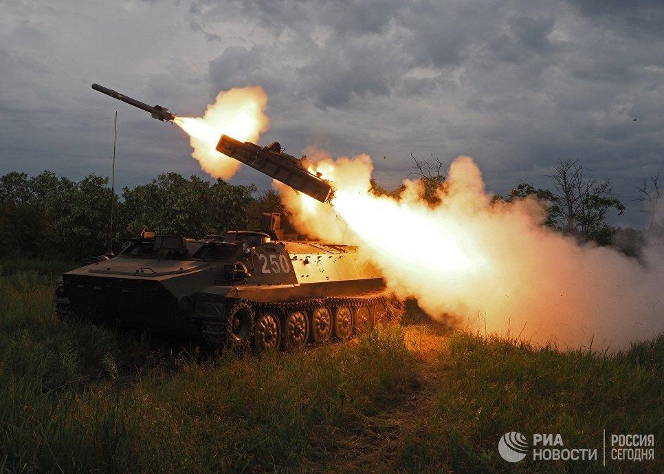 Стрельбы из зенитно-ракетного комплекса Стрела-10 на всеармейском конкурсе Чистое небо-2018