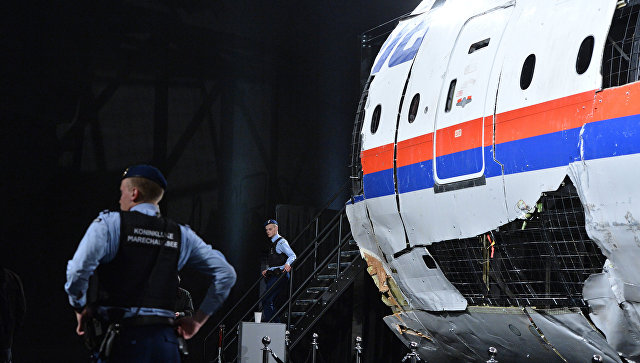 Представление доклада об обстоятельствах крушения лайнера Boeing 777 Malaysia Airlines (рейс MH17) в Нидерландах.