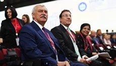 Губернатор Санкт-Петербурга Георгий Полтавченко во время торжественного открытия Петербургского международного экономического форума. 24 мая 2018