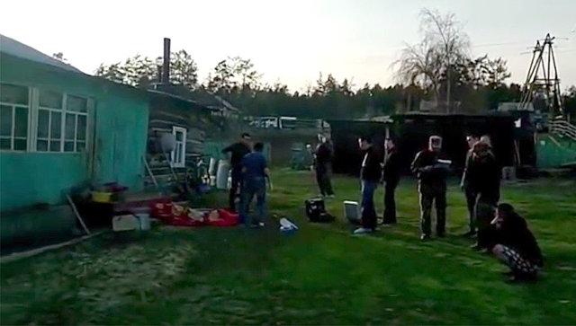 Место убийства пяти человек в Якутии