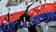 Представление доклада об обстоятельствах крушения лайнера Boeing 777 Malaysia Airlines (рейс MH17) на Востоке Украины. Архивное фото
