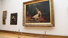 Картина Ильи Репина Иван Грозный убивает своего сына в Третьяковской галерее в Москве. Архивное фото