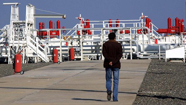 Рабочий на газоизмерительной станции газопровода Голубой поток в Самсуне, Турция. Архивное фото