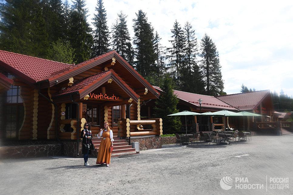 Информационный центр для туристов в горном парке «Рускеала».