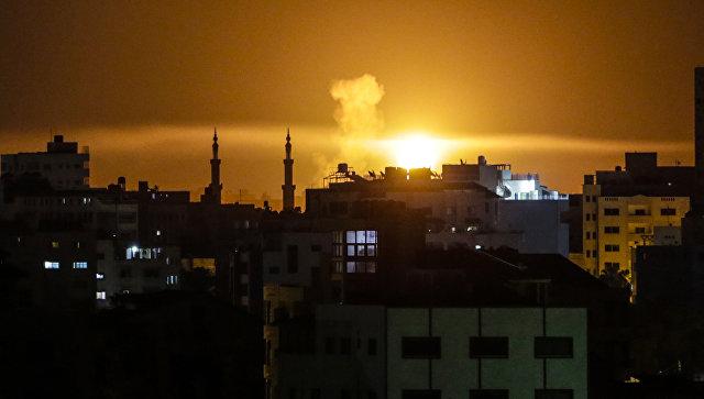 Авиаудары ВВС Израиля по сектору Газа