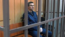 Управляющий директор Роснано по инвестиционной деятельности Андрей Горьков во время рассмотрения ходатайства следствия о его аресте в Басманном суде Москвы. 8 июня 2018