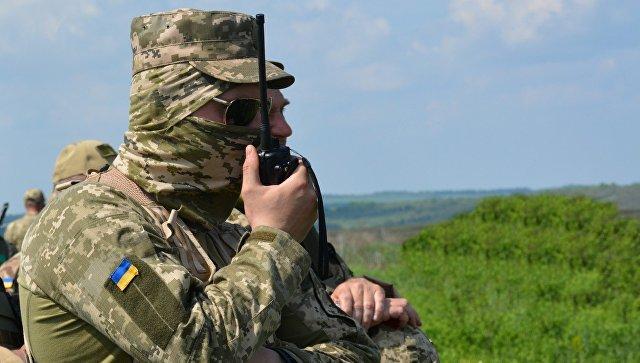 Украинские военные в Донбассе. Архивное фото