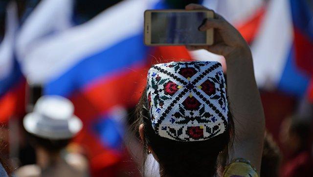 Во время празднования Дня России в Симферополе. Архивное фото
