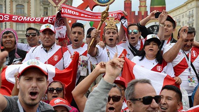 Болельщики сборной Перу. Архивное фото