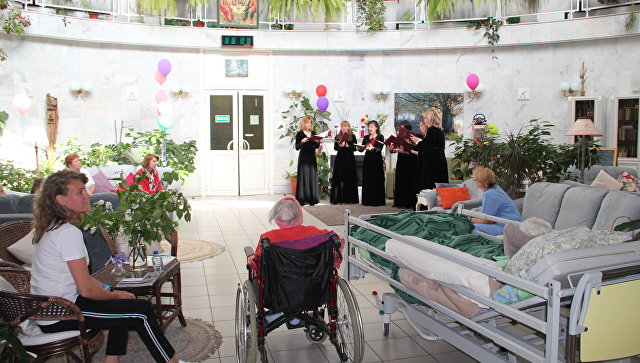 Выступление Ансамбля солистов Московского Синодального хора в хосписе в Дегунино