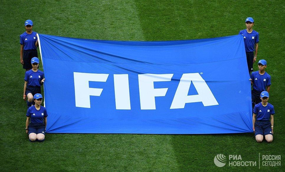 Перед началом церемонии открытия чемпионата мира по футболу 2018 на стадионе Лужники
