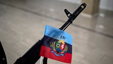 Флаг ЛНР. Архивное фото