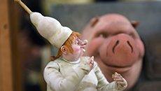 Персонаж мультипликационного фильма Гофманиада на выставке в Российском доме науки и культуры в Берлине
