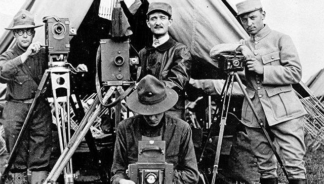 Американские и французские фотографы во время Первой мировой войны