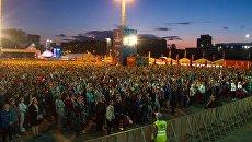 Фан-зона в Екатеринбурге на матче Россия - Египет. 19 июня 2018