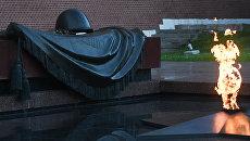 Вечный огонь у могилы Неизвестного солдата в Александровском саду в Москве. Архивное фото