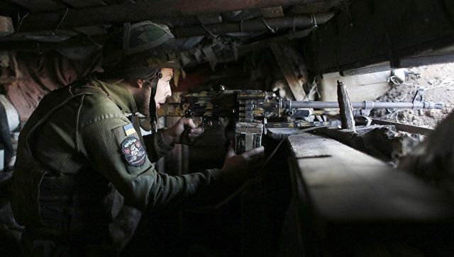 Украинский военный в Донецкой области. Архивное фото