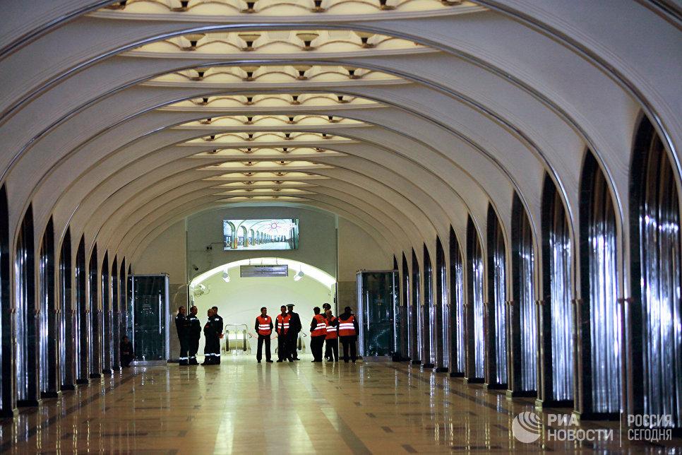 Станция московского метро «Маяковская» после завершенной комплексной реконструкции, которая длилась пять лет.