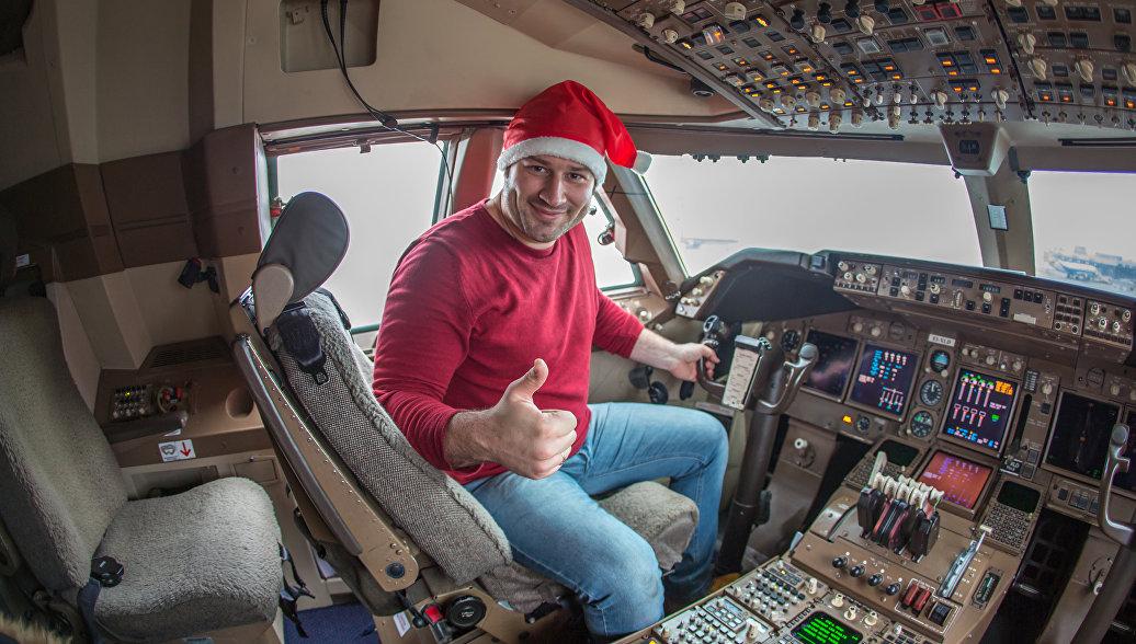 В кабине Boeing 747