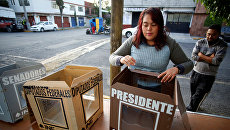 Избирательный участок для президентских выборов на окраине Мехико, Мексика. 1 июля 2018