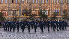 Церемония развода конных и пеших караулов Президентского полка СКМК ФСО РФ на Красной площади. Архивное фото