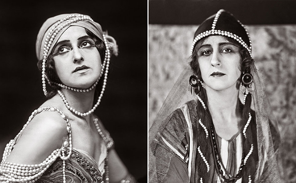 Слева: Вера Фокина в роли Зобеиды. Справа: Любовь Чернышева в роли Половецкой девушки.