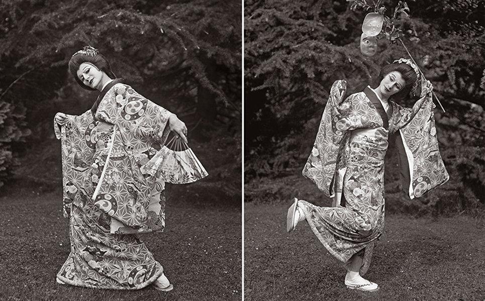 Анна Павлова исполняет сольный японский танец.